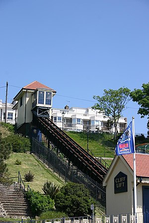 Southend Cliff Railway The old cliff lift on S...