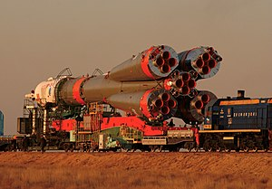 Soyuz tma-3 transported to launch pad.jpg