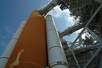 Space Shuttle Atlantis, ET and SRB seen from backside on LC 39B.jpg