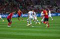 Spain - Chile - 10-09-2013 - Geneva - Sergio Ramos, Arturo Vidal and Javi Garcia.jpg