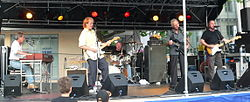 The Spencer Davis Group, Neckarsulm 2006, von links: Eddie Hardin, Spencer Davis, Steff Porzel, Colin Hodgkinson, Miller Anderson