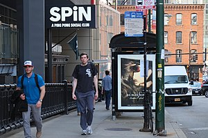 SPiN - Sign outside of SPiN Chicago