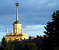 Spire evening (from train station) Kolpino.jpg