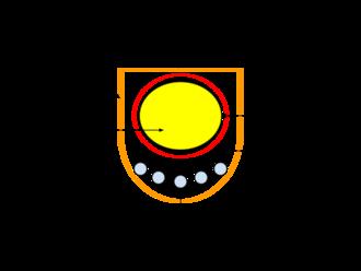 Spirochaete - Cross section of a spirochaete cell