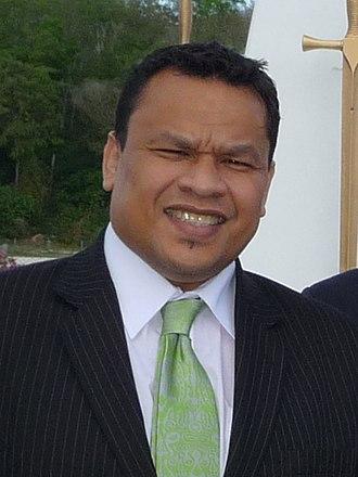President of Nauru - Image: Sprent Dabwido (cropped)