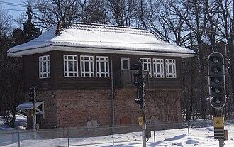 Djursholms Ösby - Old signal box at Djursholms Ösby used until 1984
