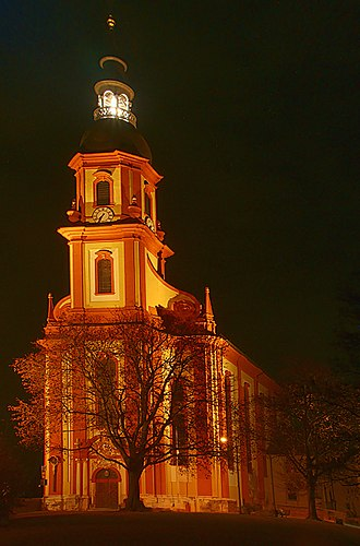 Basilica of St. Paulinus, Trier - Image: St. Paulin Trier nachts