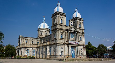 St. Francis Xavier Cathedral is the mother church of the Roman Catholic Archdiocese of Bangalore St Francis Xavier Cathedral, Bangalore oblique.jpg