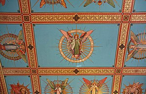 St John the Baptist, Hoxton - St John's Church ceiling