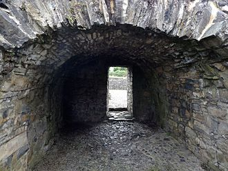 St. John's Priory, Trim - Small vaulted room inside the main building of St John's.