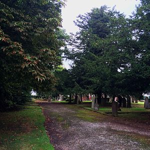 St Mary's Church, Eccleston - View of the Old Churchyard