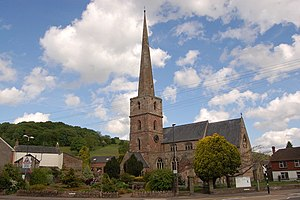 Mitcheldean - Image: St Michael and All Angels Church, Mitcheldean geograph.org.uk 808678