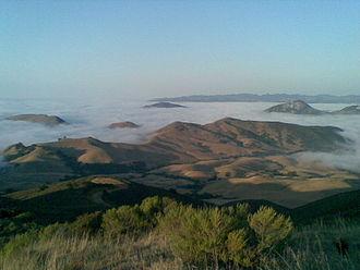 Santa Lucia Range - Santa Lucias in the clouds, near Santa Margarita