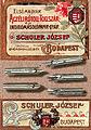 Stainless steel pen nib by Joseph Schuler, Budapest, Hungary 1910.jpg