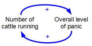 Positive feedback Destabilising process that occurs in a feedback loop
