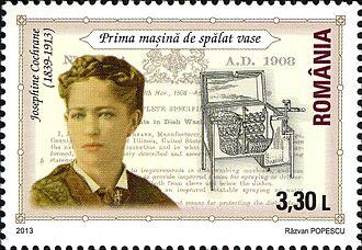 Josephine Cochrane - Stamp of Romania, 2013