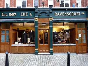 Academic dress of King's College London - Ede & Ravenscroft, suppliers of the Westwood-designed academic dress of King's. This main shop is along Chancery Lane, stone's throw away from King's Maughan Library