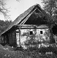 Stara lesena hiša (sedaj rabljena kot hram), Jablance 1956.jpg