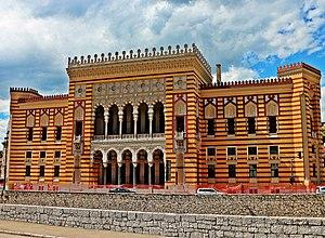 National and University Library of Bosnia and Herzegovina - The building of the Vijecnica, by Karel Pařík, Alexander Wittek and Čiril Iveković (1891-1896)
