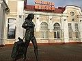 Statue near Maladzechna train station.jpeg