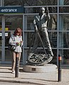 Statue of George Stephenson outside Chesterfield Station.jpg