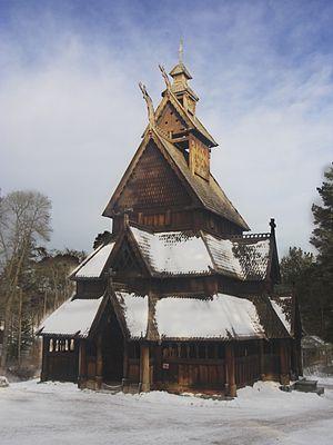 Waldemar Hansteen - Image: Stave church Gol in wintertime