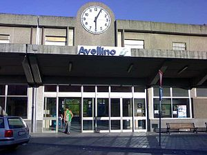 Avellino railway station - View of the station building