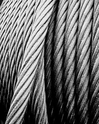 The steel cable of a colliery winding tower Steel wire rope.JPG