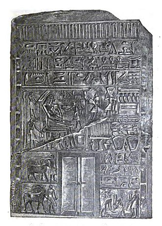 Iry-pat - Stele of Intef the Elder, called an iry-pat at the end of the second row