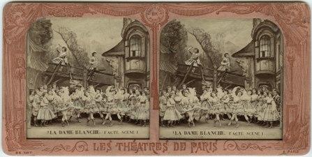 Stereokort, La Dame blanche 1, acte I, scène I - SMV - S162a.tif