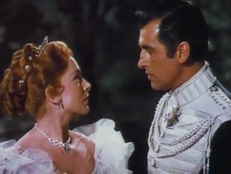 Stewart Granger and Deborah Kerr in The Prisoner of Zenda (1952 film).png