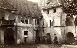Millstatt Abbey - Order's Castle courtyard, around 1890