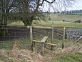 Stile on fence near Wrinsted Court - geograph.org.uk - 1181273.jpg