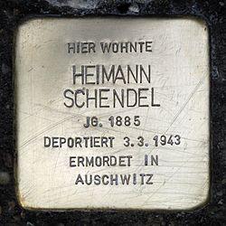 Photo of Heimann Schendel brass plaque