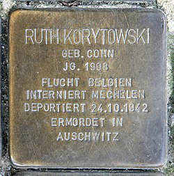 Photo of Ruth Korytowski brass plaque