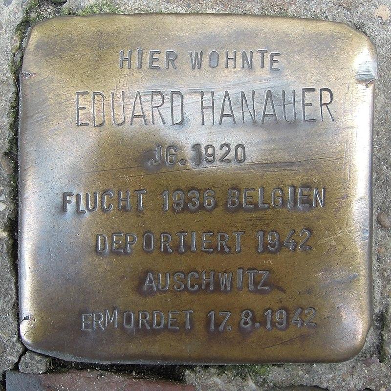 Stolperstein Lingen Gymnasialstraße 1 Eduard Hanauer.jpg