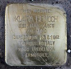 Photo of Klara Henoch brass plaque
