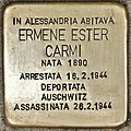Stolperstein für Ermene Ester Carmi (Alessandria).jpg