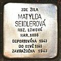 Stolperstein für Matylda Seidlerova.JPG