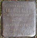 Stumbling block for Lina Hermann (Frankstrasse 12)