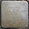 Stumbling stone for Paula Ziegellaub (Thieboldsgasse 102)