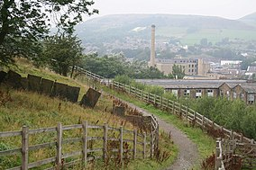 The Rawtenstall end of the valley