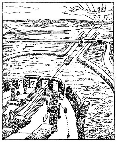 Stonehenge vid midsommar 1700 f Kr, Nordisk familjebok
