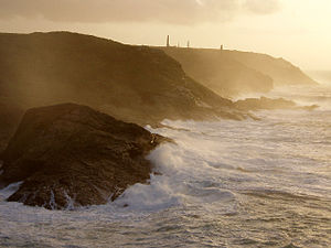 Pendeen - Storm on the coast near the Enys