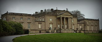 Stourhead House, an 18th-century Palladian building, inspired the look of Creighton-Ward Mansion. Stourhead House (8349738431).jpg