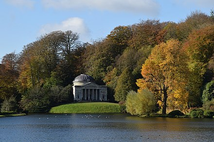 Stourhead in Wiltshire, England, designed by Henry Hoare (1705-1785) Stourhead Pantheon.jpg