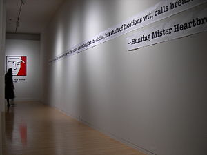 Jonathan Raban - A 2006 exhibit at the Henry Art Gallery honoring the Stranger Genius Award winners pays tribute to Raban.