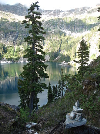 Strathcona Provincial Park - Love Lake is in the southern part of the park