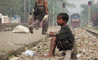 Street children - A street child in Bangladesh