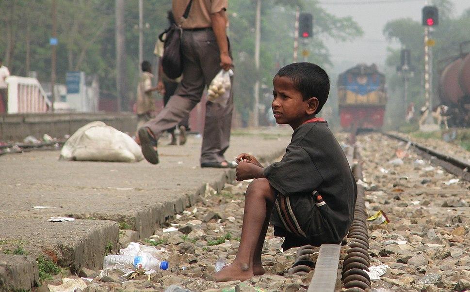 Street Child, Srimangal Railway Station